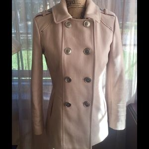 Kenneth Cole New York Beige Wool Blend Coat Sz 2P